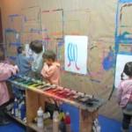 peinture à l'atelier enfant