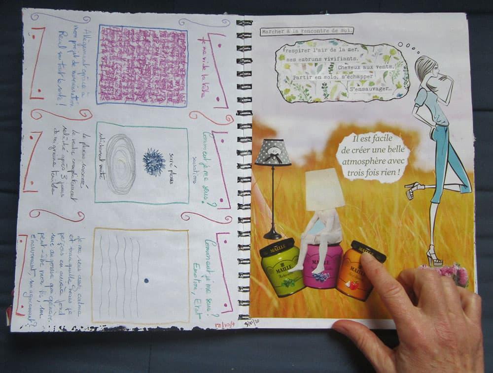 Journal Créatif Collage